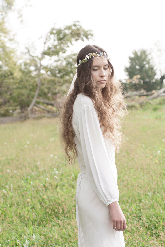 Bridal boho flower hair crown | Elibre handmade