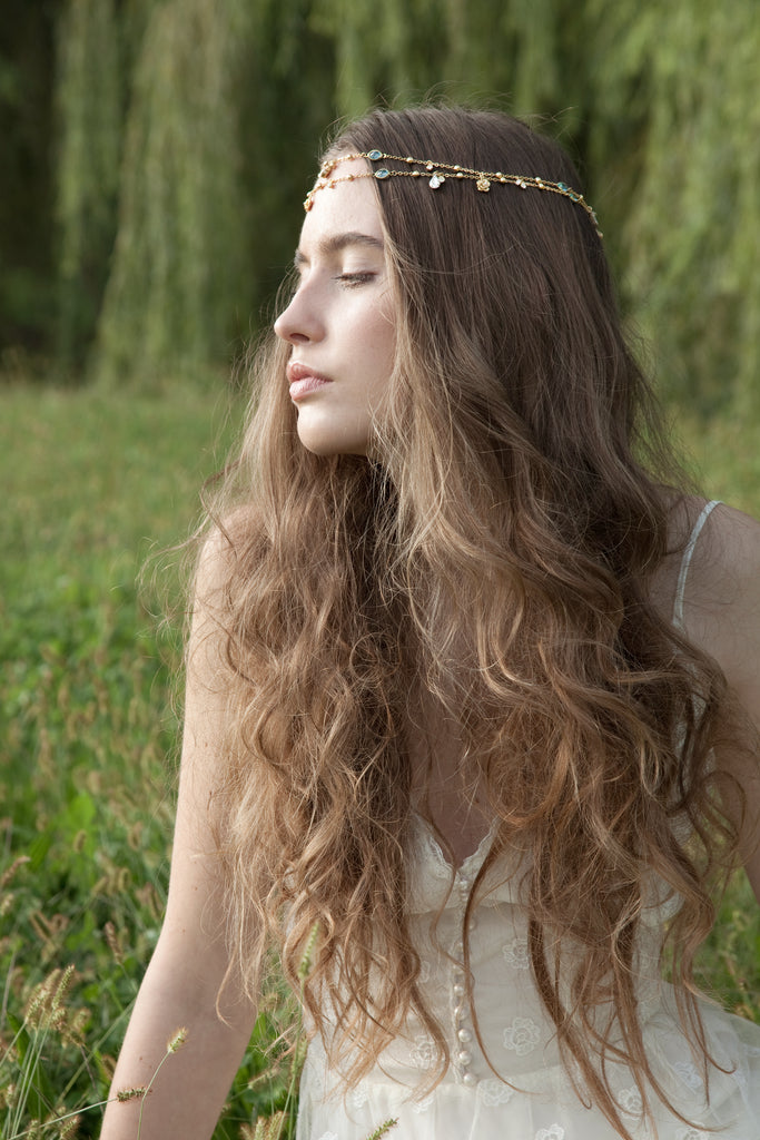 Wedding boho hair chains | Elibre handmade