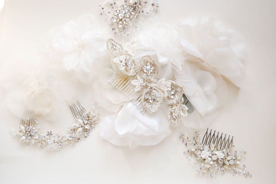 Bridal hair accessories by Elibre handmade