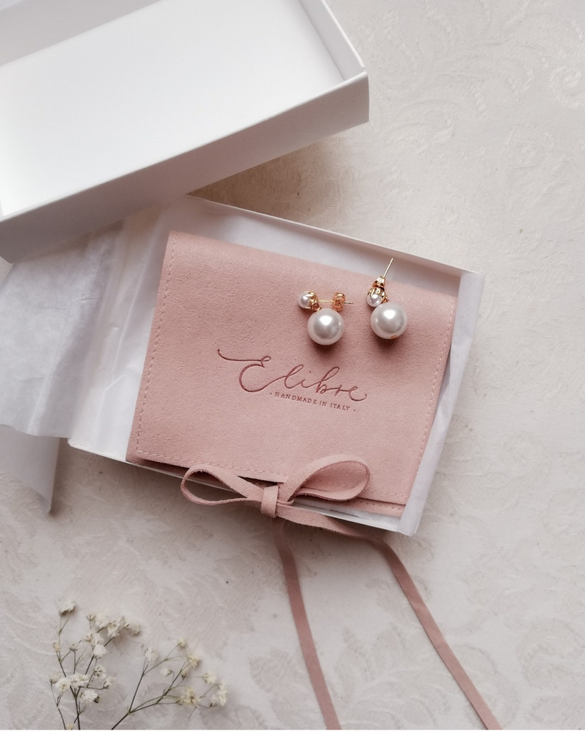 Bridal pearl earrings | Elibre handmade