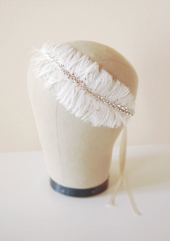 Crystal feather headpiece | tailor-made | Elibre handmade