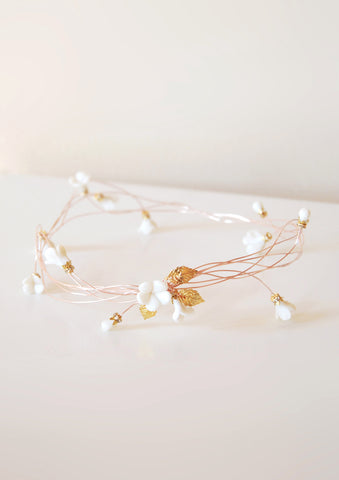 Rose gold crown headband | tailor-made | Elibre handmade