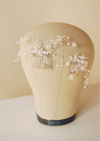 Bridal crystal hair vine headpiece | tailor-made | Elibre handmade