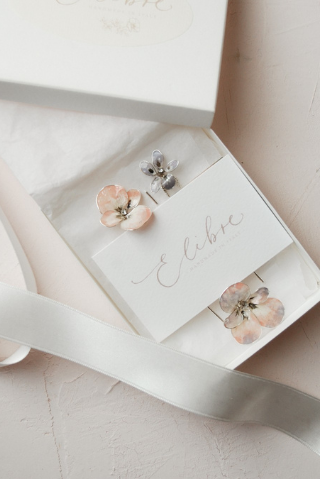 Wedding pink hairpins | pansy flowers | Elibre handmade