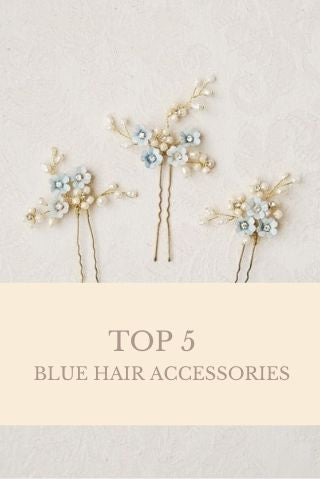 TOP 5 blue hair accessories | Elibre handmade