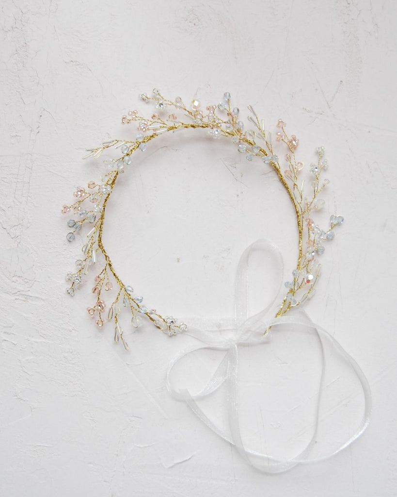 Magical pastel crystal hair crown | Elibre handmade
