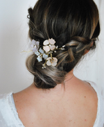 boho chic flower hairpin