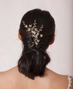 Crystal and pearl beaded hair piece | Elibre handmade