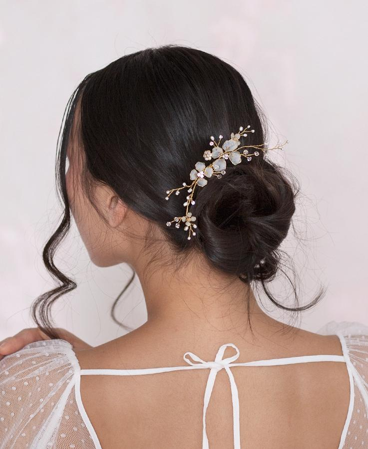 light pink bridal head piece | Elibre handmade