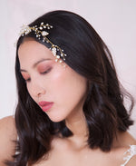 Wire pearl forehead band | Elibre handmade