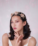 Wedding statement floral hair piece | Elibre handmade