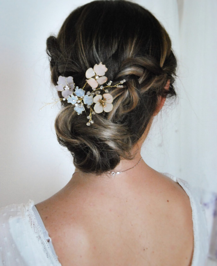 floral updo hair piece