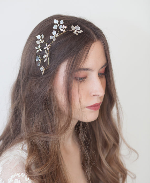 Delicate headpiece for bride | Elibre handmade
