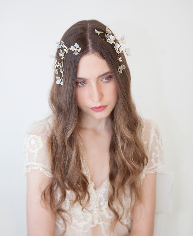 Dogwood ivory flower headpiece