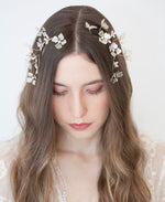 Wedding ivory flower head piece | Elibre handmade