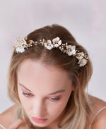Sweet blossom and pearl spray hair crown
