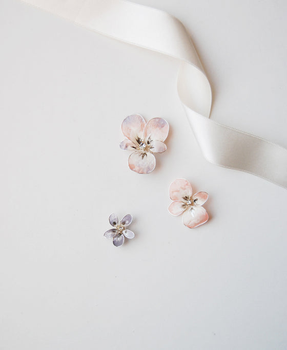 Pansy & violet hair set | Set of 3