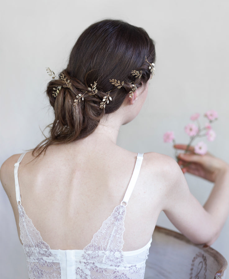 Gold leaf head band | Elibre handmade