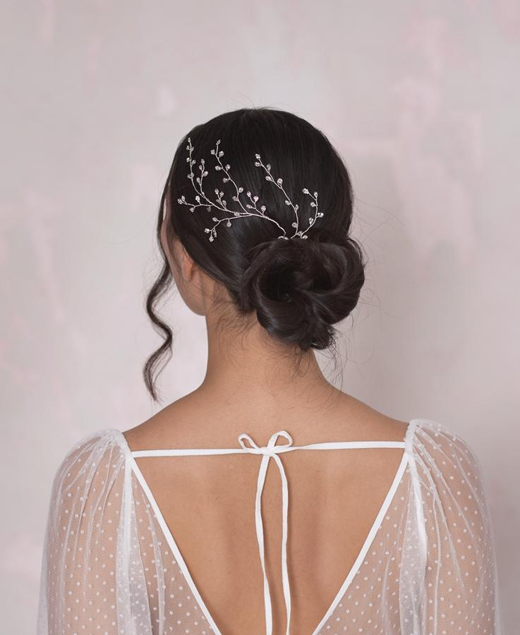 Wedding crystal hair jewelry | Elibre handmade