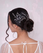 Bride silver hair accessory | Elibre handmade