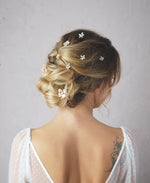 wedding jeweled hairpins set | Elibre handmade