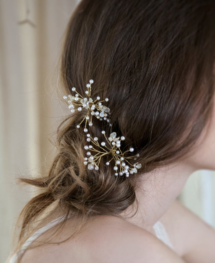 Queen Anne lace hairpins | Set of 2