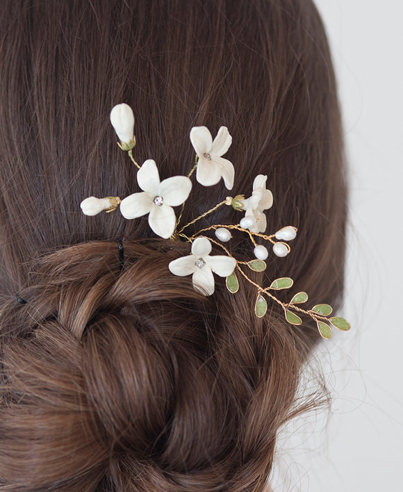 Stephanotis flower hair pin | Elibre handmade