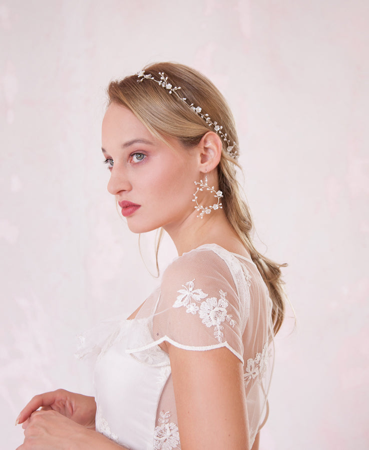 Wedding pearl vine hair accessories | Elibre handmade