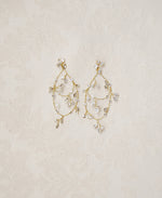 Crystal vine earrings for brides | Elibre handmade