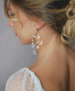Bridal beaded crystal earrings | Elibre handmade