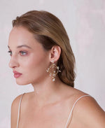 Wedding hoop pendant earrings | Elibre handmade