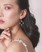 Crystal circle hoop earrings | Elibre handmade