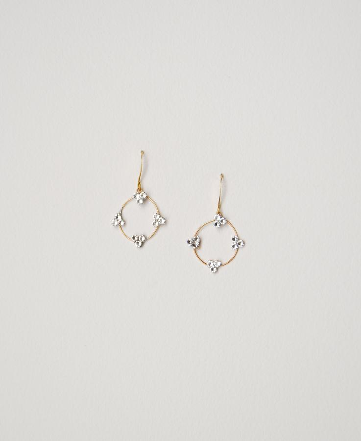 Bridal dangle hoop earrings | Elibre handmade