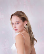 Bride statement pink earrings | Elibre handmade