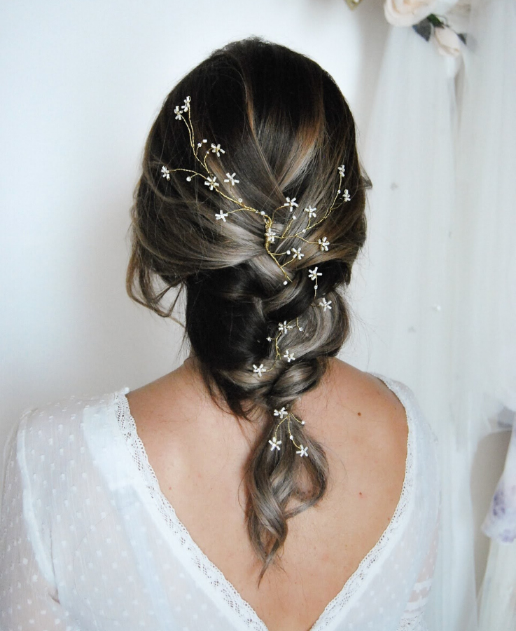 starry head piece for bride