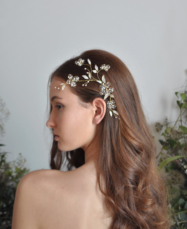 bridal floral head piece