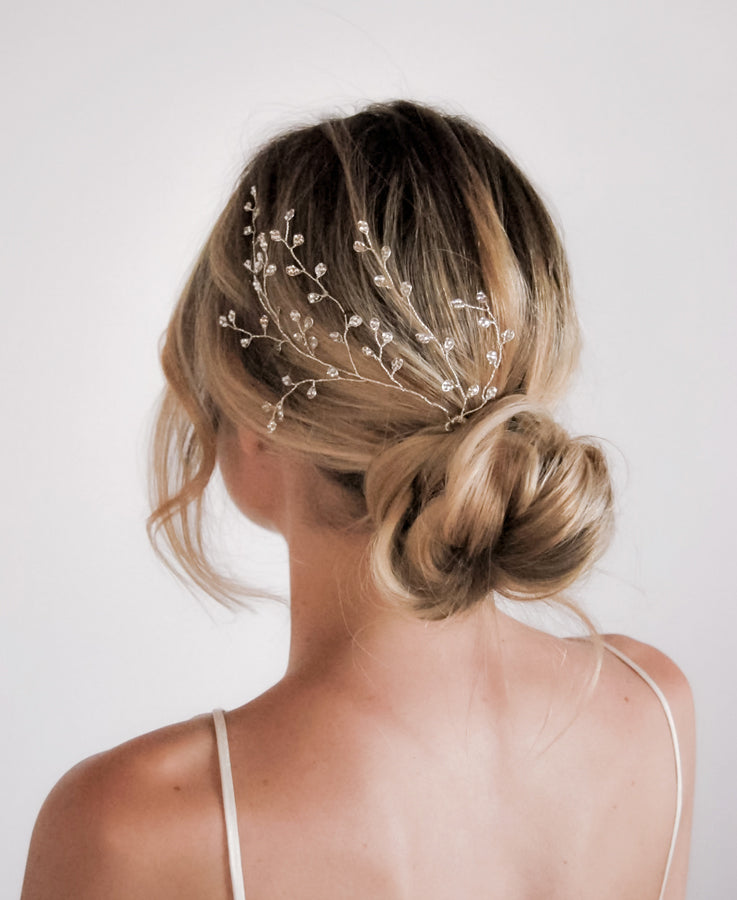 Bridal crystal hair vine | Wedding Hairpin