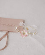 pearl flower jewelry in pink