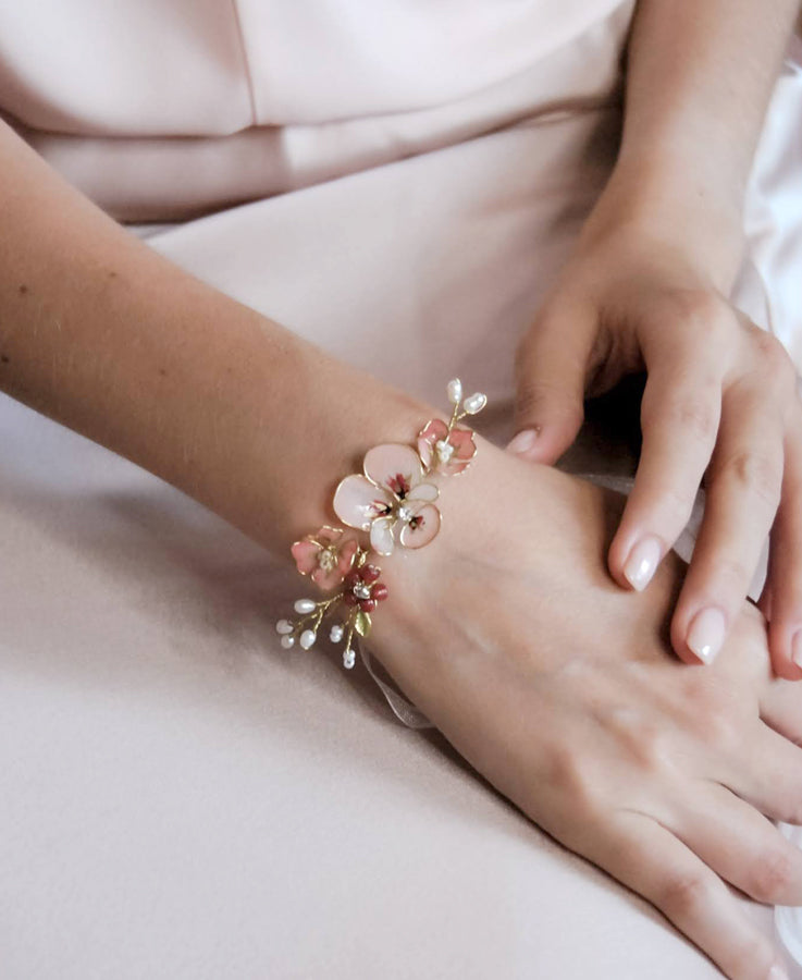 floral jewelry for her