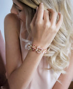 romantic flower bracelet in pink