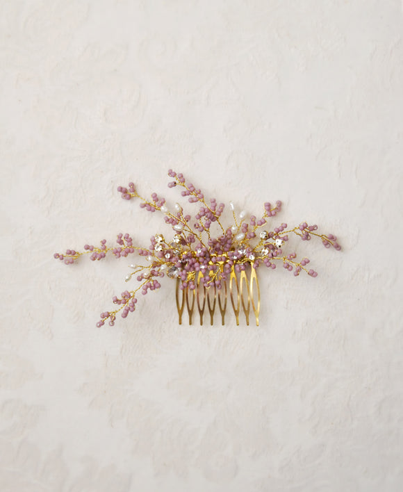 bride lavender headpiece