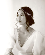 bride hair circlet with stars | Elibre handmade