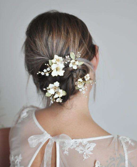 bridal floral head pieces