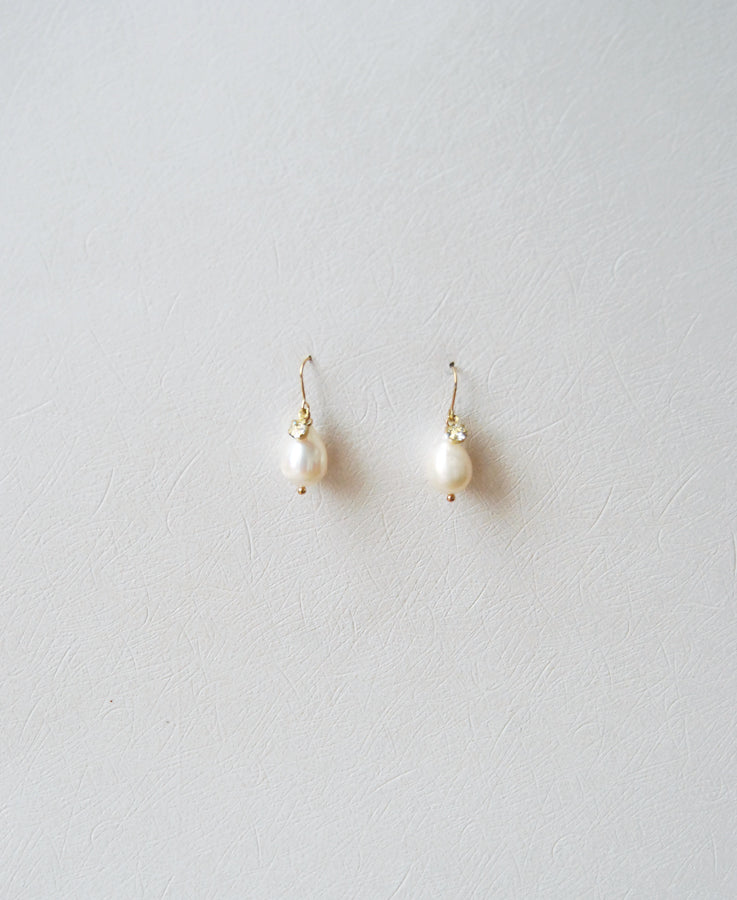 baroque pearl pendant earrings