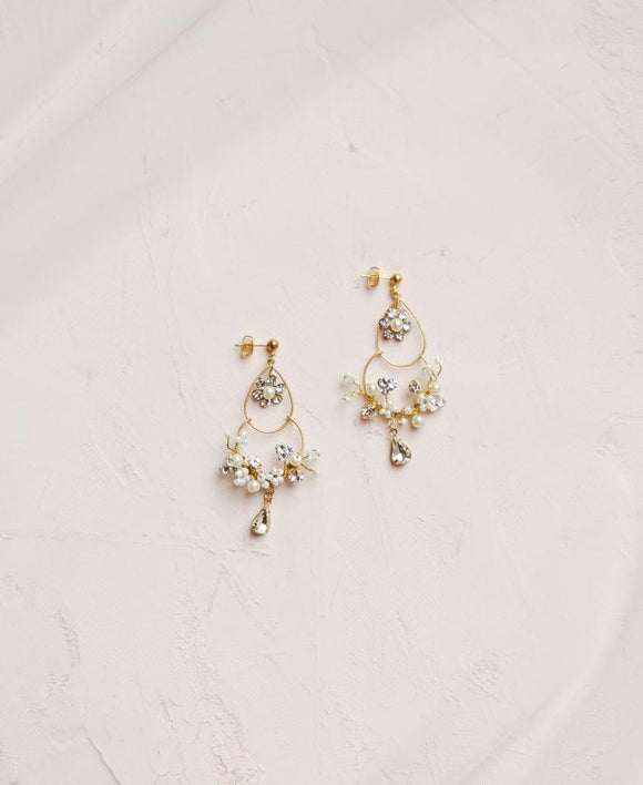 Bridal boho chandelier earrings | Elibre handmade