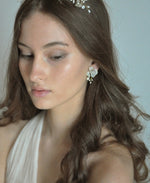 bridal flower post earrings