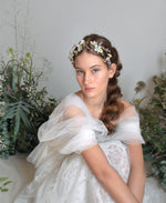 bridal flower tiara crown