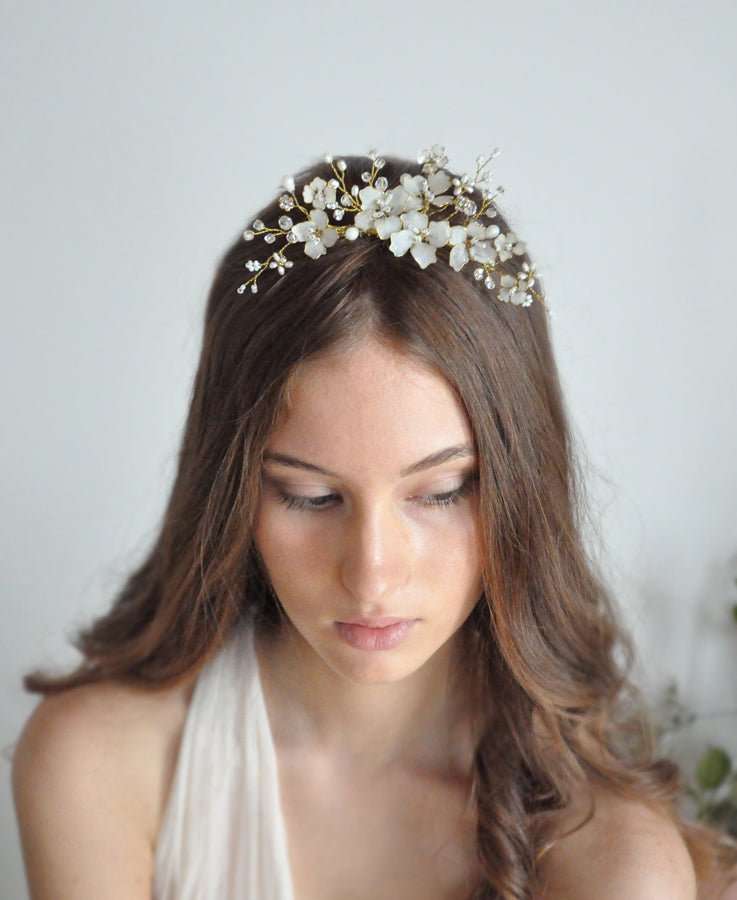 bridal flower tiara