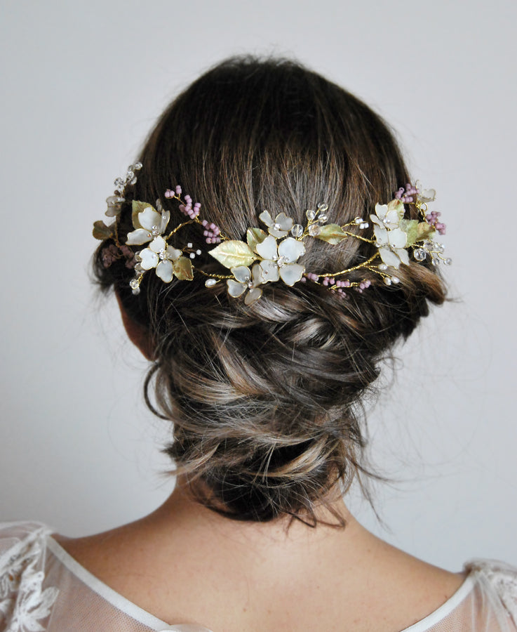bridal lavender head piece