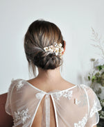 bridal pink flower hairpiece